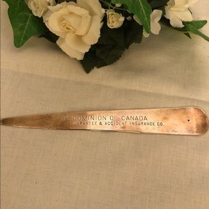 Antique Letter Opener - Early 1900s - Bronze